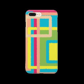 ぽすぽすのしかくしかくしかくまど Smartphone cases