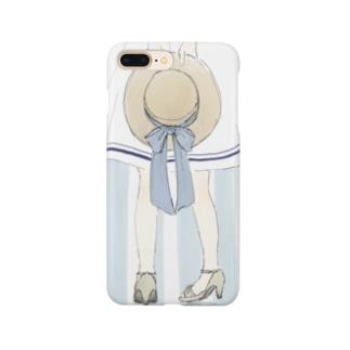 カンカン帽と女の子 Smartphone cases