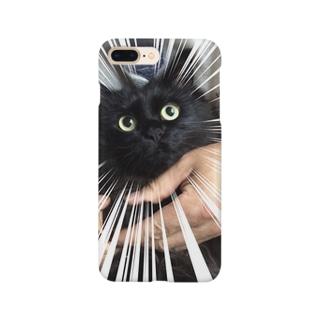 びっくりねこフェイス Smartphone cases