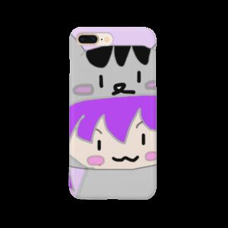 市イラストグッズショップの猫耳パーカー娘 Smartphone cases