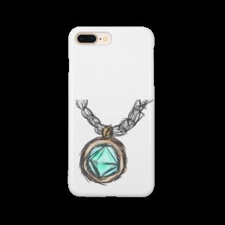 魚風商店の涼やかネックレス Smartphone cases