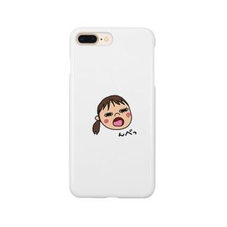 変な顔の娘 Smartphone cases