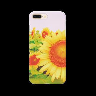 manamiのひまわり Smartphone cases