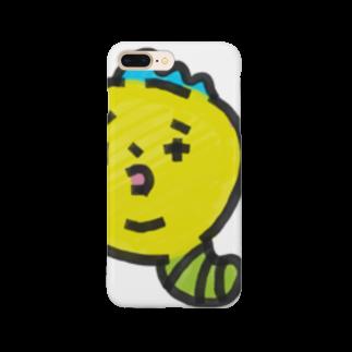 チコナオンのモヒカンイモムシくん Smartphone cases