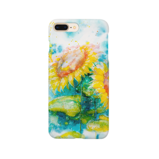 AWESOME CLOUDのhimawari Smartphone cases