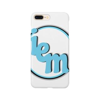 iemロゴあいぽんケース(White) Smartphone cases