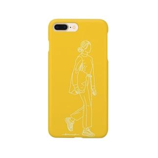 iphoneケース黄色 Smartphone cases