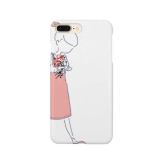 コトノハちゃん、お花をもつ。 Smartphone cases