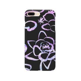 スクラッチアート風×睡蓮 Smartphone cases