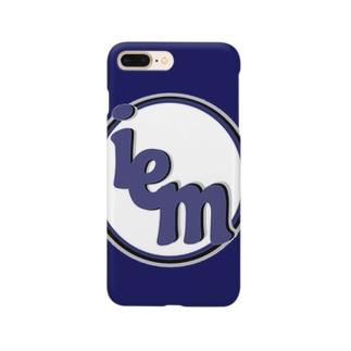 iemロゴあいぽんケース(NAVY) Smartphone cases