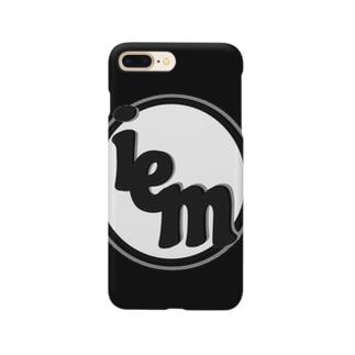 iemロゴあいぽんケース(black) Smartphone cases