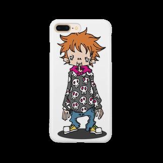 idogaeru's workshopのBOY Smartphone cases