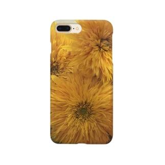 八重咲きひまわり Smartphone cases