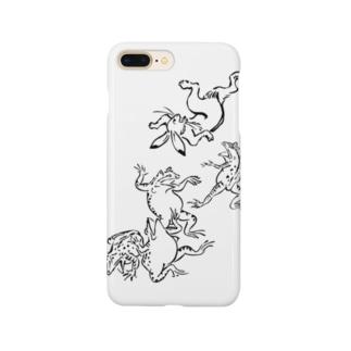 鳥獣戯画フロントメイン Smartphone cases