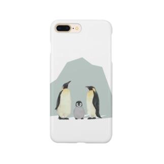 コウテイペンギン家族 Smartphone cases