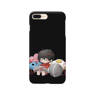 ito is sleeping [黒] Smartphone cases