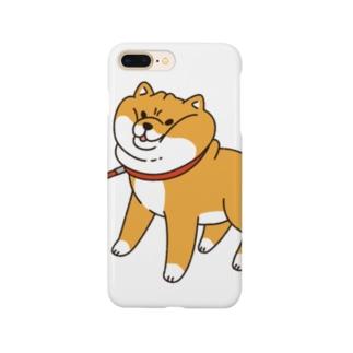 散歩から帰りたくない柴犬 Smartphone cases