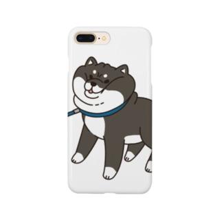 散歩から帰りたくない黒柴 Smartphone cases