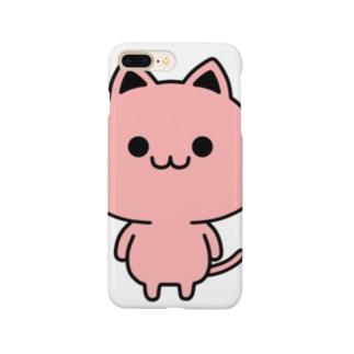 猫みたいなペッツちゃん(赤) Smartphone cases
