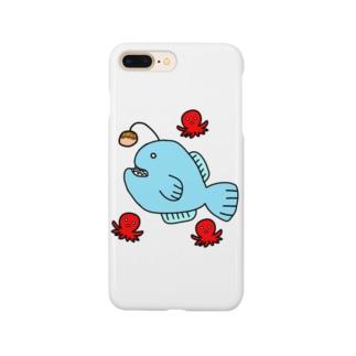 🐙ちょうちんあんこうin夏祭り(たこ焼きver.)🐙 Smartphone cases