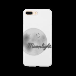 s1_n_の顔つき月【モノクロ】 Smartphone cases