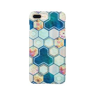 和柄の大理石 シリーズ Smartphone cases