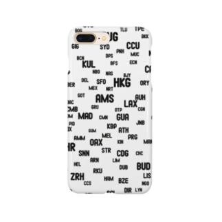 エアポートコードTシャツ Smartphone cases