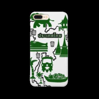 トコ*ガドガドのカオニャオ分布図(ミドリ) Smartphone cases