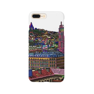 パリの街並み Smartphone cases