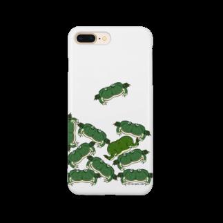 Dragon's Gateグッズの積みタピオカガエルスマホケース Smartphone cases