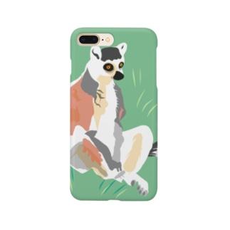 アメコミ風×ワオキツネザル Smartphone cases