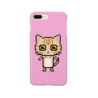 ドットマンチカン  ピンクver. Smartphone cases