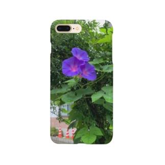 真夏が朝を彩る青紫 Smartphone cases