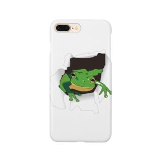 破れから蛙 Smartphone cases