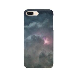 夏と雷雲 Smartphone cases