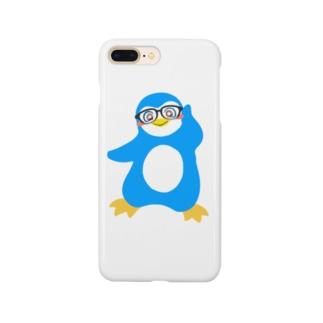 ライアンジーのインテリペンギン水色 Smartphone cases