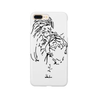 漆黒の虎 ※黒不可 Smartphone cases