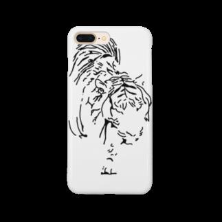 Takafumi  Yamadaの漆黒の虎 ※黒不可 Smartphone cases