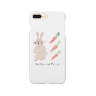 うさぎとニンジン Smartphone cases