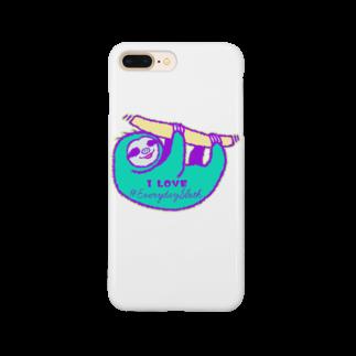 七味田飯店(SUZURI支店)のVIVID SLOTH Smartphone cases