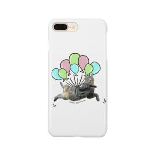 キジトラ猫ちまき 風船でふわふわ Smartphone cases