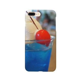 青いクリームソーダ  Smartphone cases