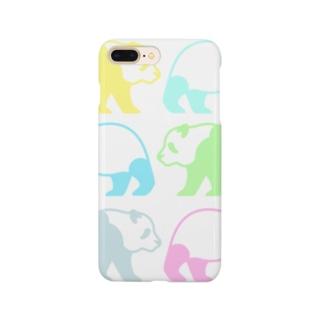 鯖いTシャツ屋さんのレインボーパンダさん虹色ポップサイン Smartphone cases