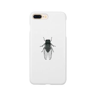 蝉嫌いが描いた蝉 Smartphone cases