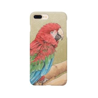 ベニコンゴウインコ Smartphone cases