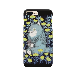 お花畑とオオカミ Smartphone cases