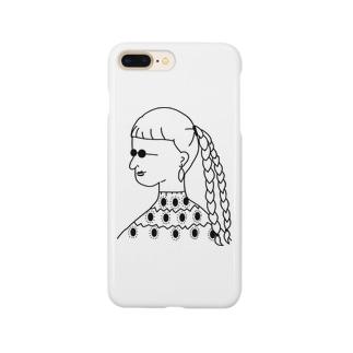 サングラスの女 Smartphone cases