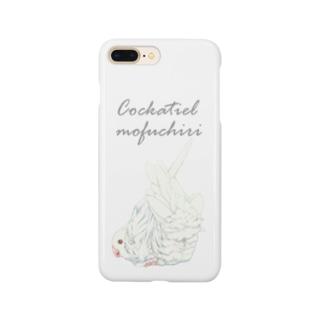 ホワイトフェイスルチノー もふちりオカメインコ Smartphone cases