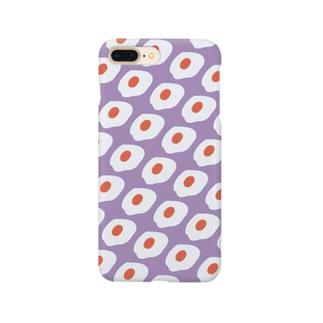 めだまやき大量発生(パープル) Smartphone cases