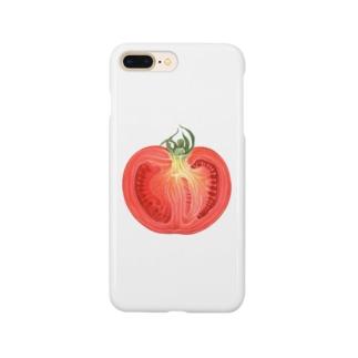 トマトの断面 Smartphone cases